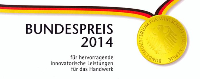 Bundespreis 2014 für hervorragende innovatorische Leistungen