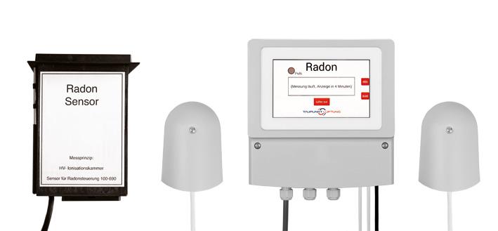 Radon Lüftungssteuerung wegen der zu hohen natürlichen Radioaktivität