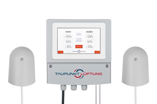 Neu Kellerlüftung Taupunkt Lüftung mit Touch 100-600 und 100-610